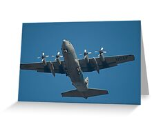 Air Force Plane ready to land. Greeting Card
