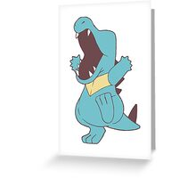 Simplified Totodile Greeting Card