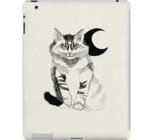 Black Crescent Fluffy Cat iPad Case/Skin