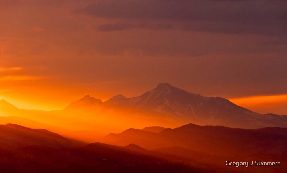 Rain Of Color On Longs Peak by nikongreg