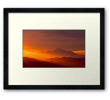 Rain Of Color On Longs Peak Framed Print
