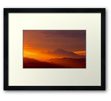 Rain Of Color On Longs Peak Framed Print