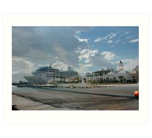 Reserved Parking-Cruise Ships Only-Tunis Africa Art Print