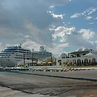 Reserved Parking-Cruise Ships Only-Tunis Africa by Margaret  Shark