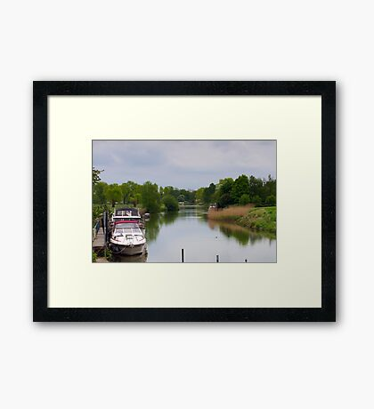 River in Flanders Framed Print