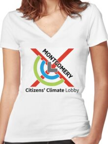 Montgomery Citizens Climate Lobby (diagonal) Women's Fitted V-Neck T-Shirt