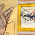 The Left and Right Hands Diptych by Amy-Elyse Neer