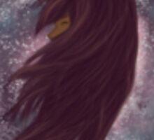 Galaxy girl Sticker