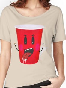 Cups Playing Beer Pong Women's Relaxed Fit T-Shirt