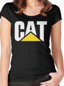 Caterpillar logo Women's Fitted Scoop T-Shirt