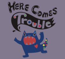 Here Comes Trouble - colbalt Kids Clothes