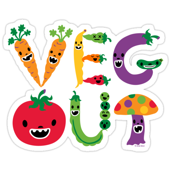Veg Out - navy by Andi Bird