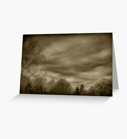 The Textured Sky Greeting Card