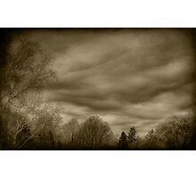 The Textured Sky Photographic Print