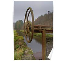 canal providing old saw mill of water Poster
