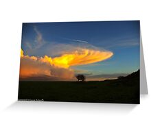 Celestial Sky - Sunset and Cloud Formation, County Antrim. Greeting Card
