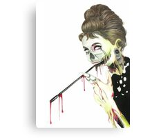 Zombies at Tiffany's Canvas Print