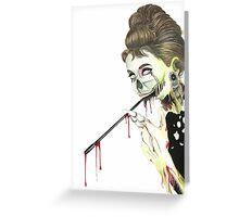 Zombies at Tiffany's Greeting Card