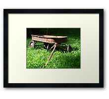 Watch The Paint Peel on My Lil Red Wagon Framed Print