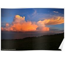 Rose Glow - Sunset on Clouds - County Antrim. Poster