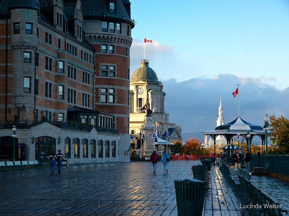 Boardwalk in Quebec by Lucinda Walter
