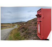 Postbox at Bagh a Chaise, North Uist Poster