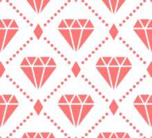 Pink Diamond Grid Pattern Sticker