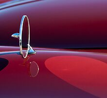 1960 Jaguar XK150 Roadster Side Mirror by Jill Reger