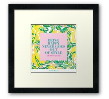 LP quote Framed Print