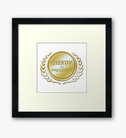 Chekov for President Framed Print