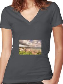 Dawlish Air Show Women's Fitted V-Neck T-Shirt