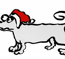 Christmas Dachshund by Mary Taylor