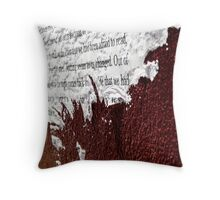 Paper Poster on Red - Glenelg Throw Pillow
