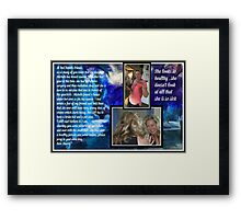 Michele and her cancer ...re-mission and cancer is back Framed Print
