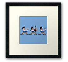 Fighting 3 Framed Print