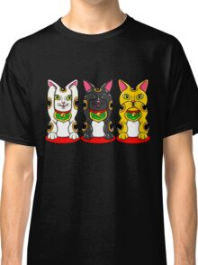 Maneki Neko - Hear See Speak No Evil Classic T-Shirt