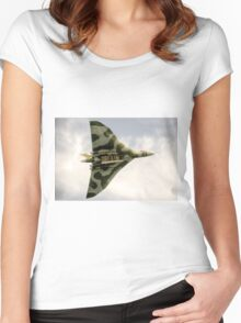 The Vulcan Bomber  Women's Fitted Scoop T-Shirt