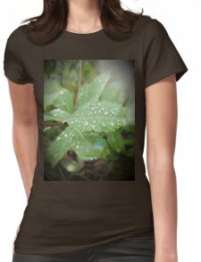 Diamond-y Water Droplets Womens Fitted T-Shirt