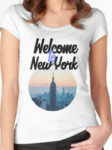 Welcome to New York  Women's Fitted Scoop T-Shirt