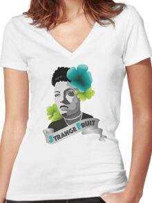 Billie Holiday Women's Fitted V-Neck T-Shirt