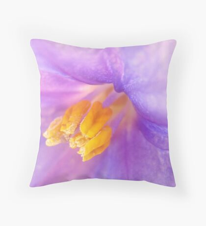 Dressed in silk. Throw Pillow