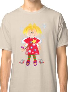 Cute angel with robins Classic T-Shirt