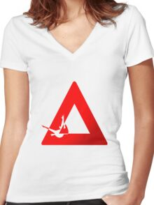 Latios Logo Women's Fitted V-Neck T-Shirt