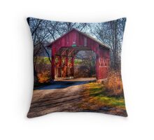 Little Covered bridge  Throw Pillow