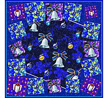 Christmas Cards Fantasia Collage with Snowflakes Photographic Print