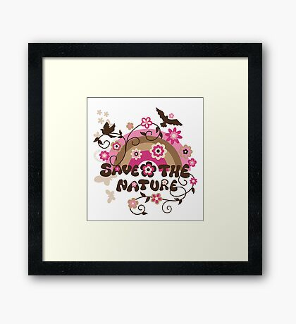 Earthday Save Nature Framed Print