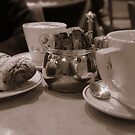 Coffee and Croissant by Karen Martin