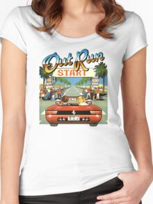 Outrun Women's Fitted Scoop T-Shirt