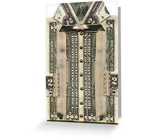 $1 & 2 Dollar Bill Shirt Card Greeting Card