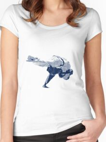 Judo Throw in Gi 2 Women's Fitted Scoop T-Shirt
